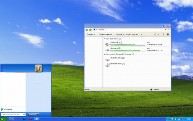 Windows 7'den XP'ye...