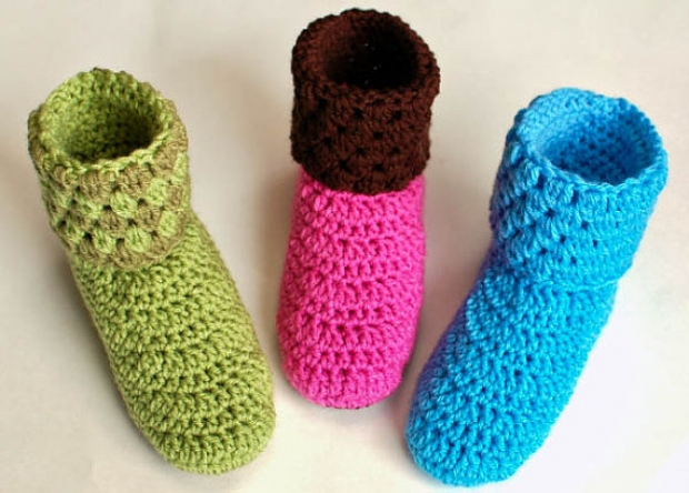 60 Crochet Slippers Patterns The Funky Stitch